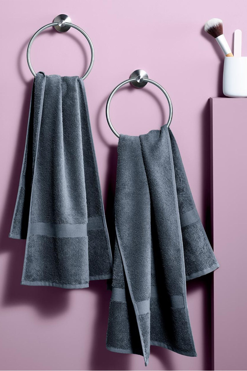 Hand towel Set of 2, Gray