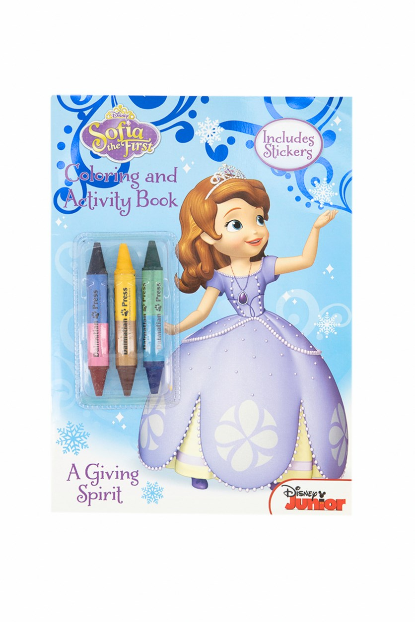 Sofia The First Book For Color With 3 Big Crayon