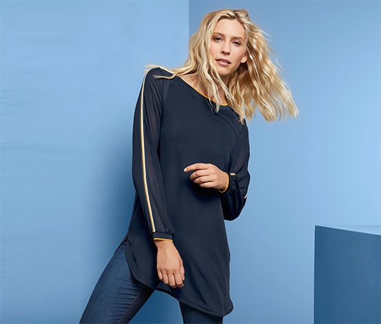 Double Layer Shirt, Navy