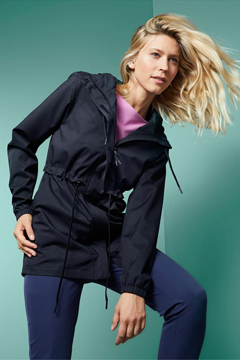 Women's Rain Jacket, Navy