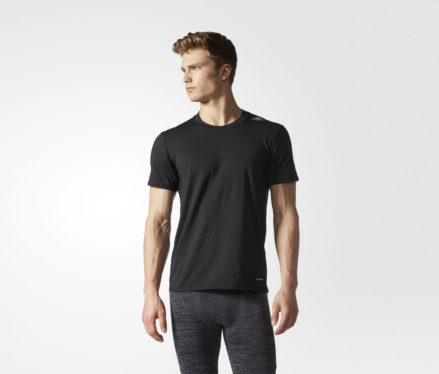 Men's Techfit Base Fitted Tee, Black