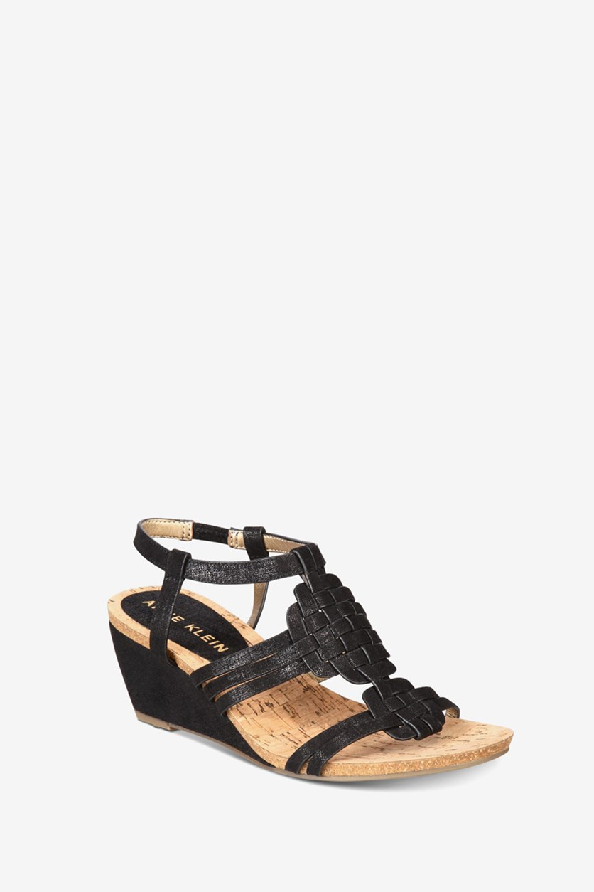 Women's Tilly Wedge Sandals, Black