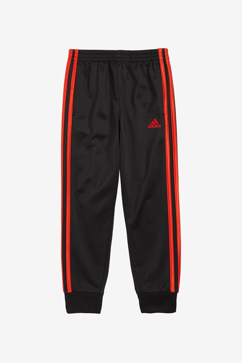 Toddler Boy's Tricot Jogger Pants, Black/Red