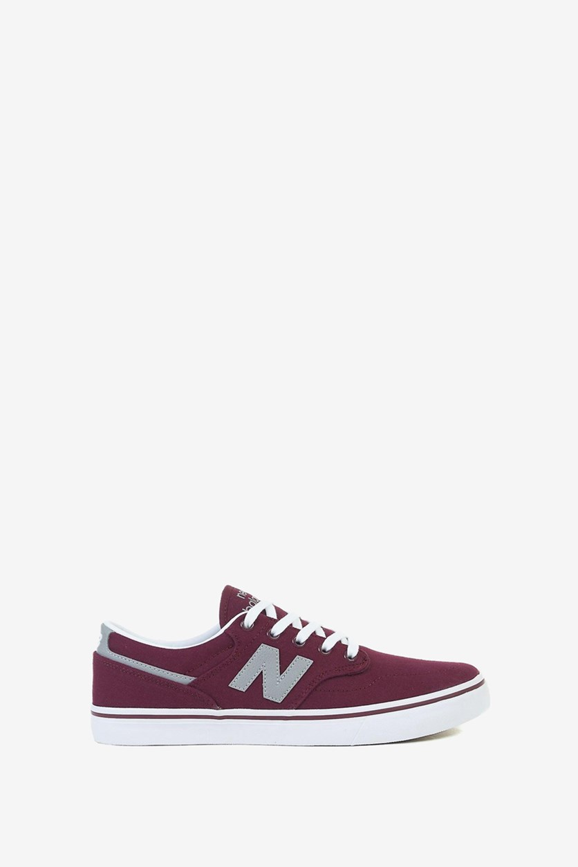 Men's Lace Up Sneakers, Burgundy