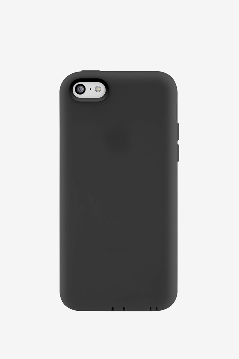 Integrated Plugs Shock Resistant iPhone 5C Case, Stealth Black
