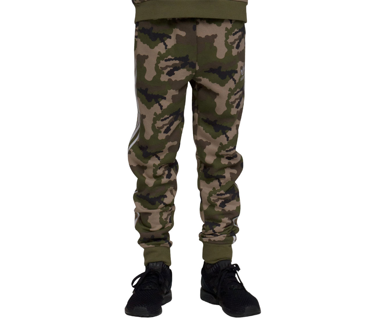Boy's Camo Track Pants, Green