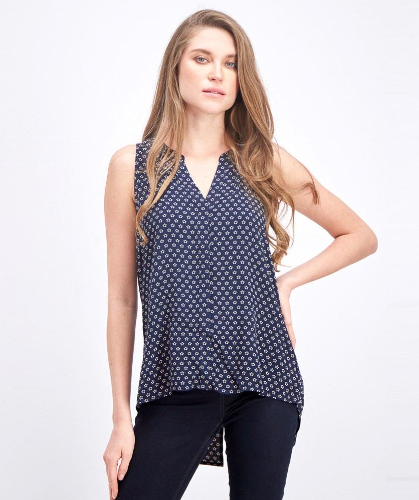 Women's Bernadina Textured Button Down Top, Navy
