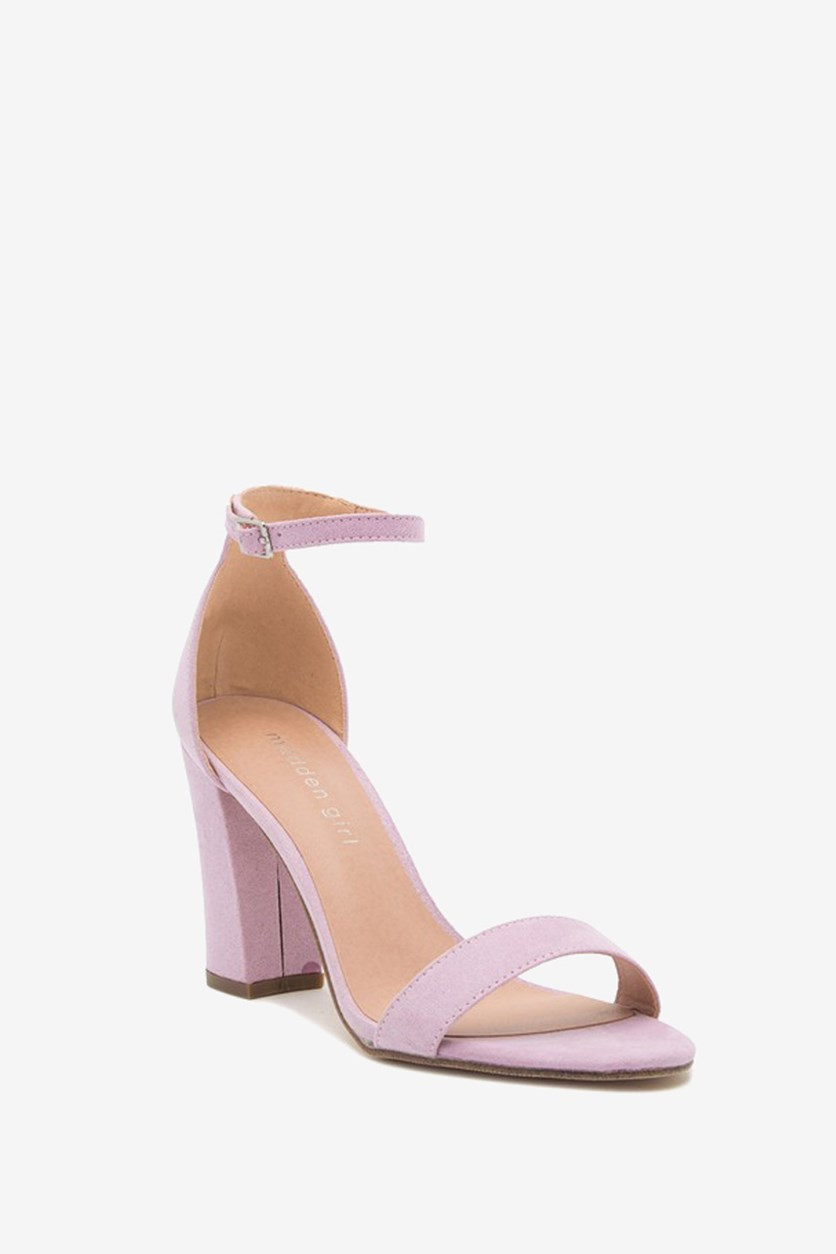 Bella Two-Piece Block Heel Sandals, Lavender