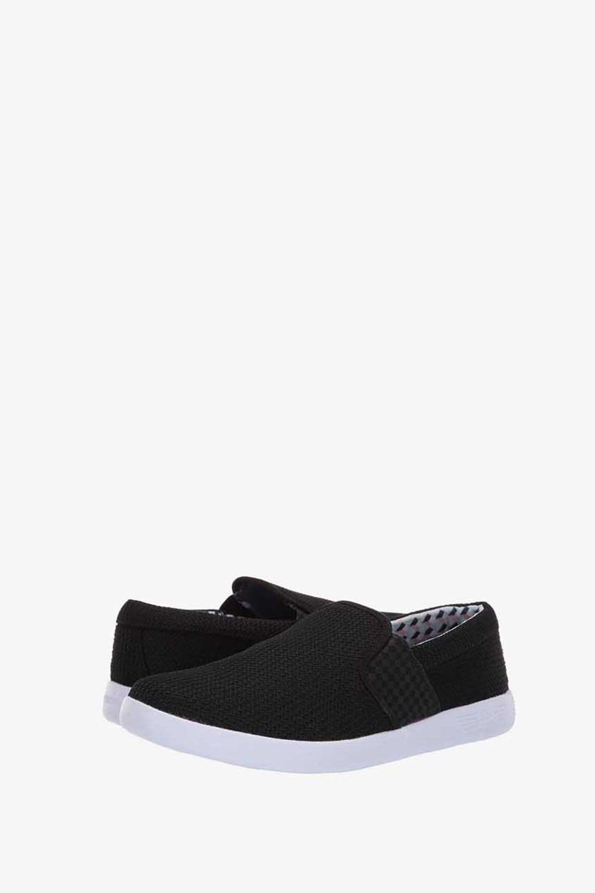 Men Parnell Gingham Imprinted Casual Shoes, Black/White