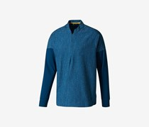 Men's 1/4 Id Zip Crewneck Sweatshirt, Blue