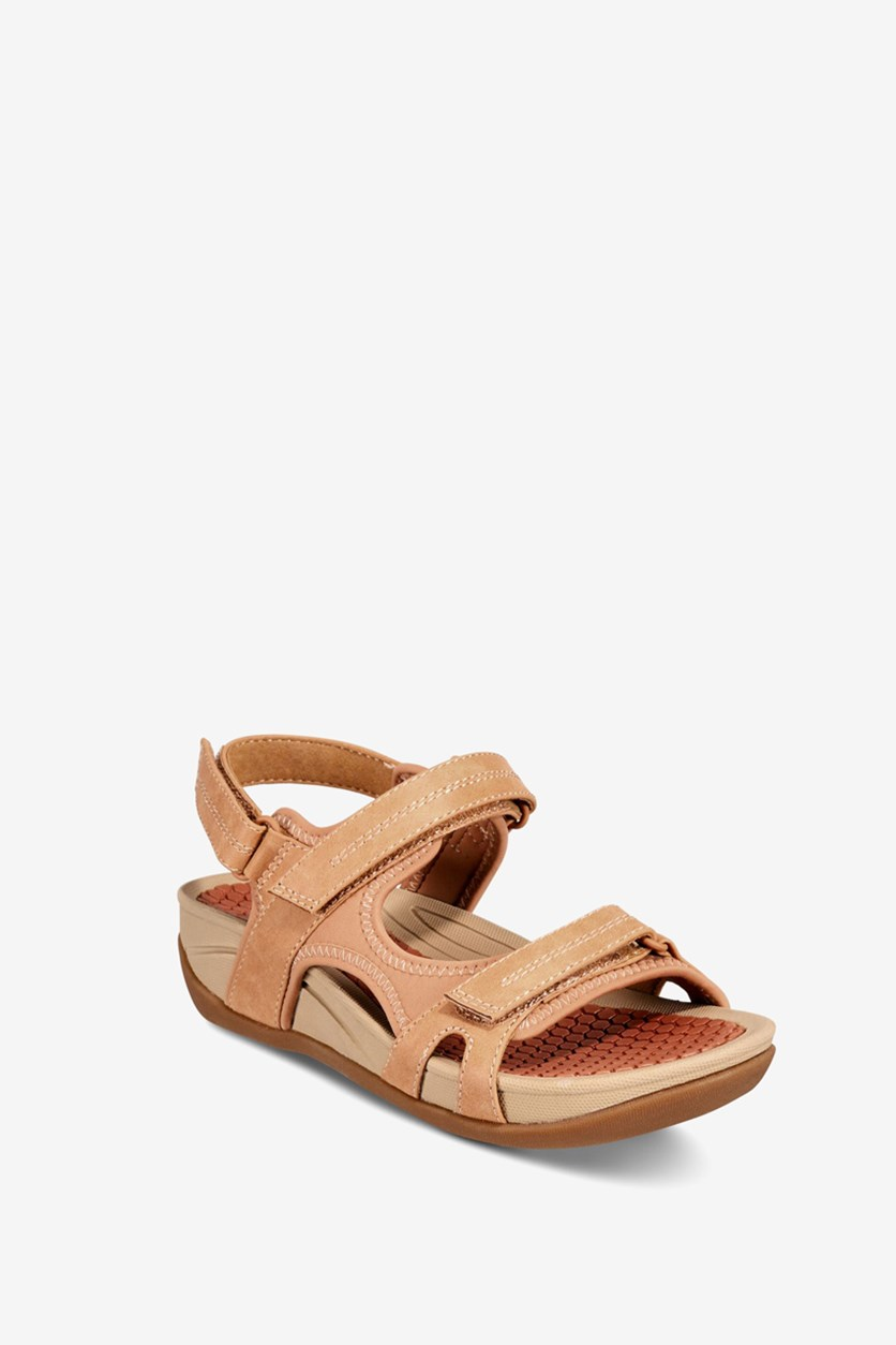 Women's Dinah Wedge Sandals, Caramel