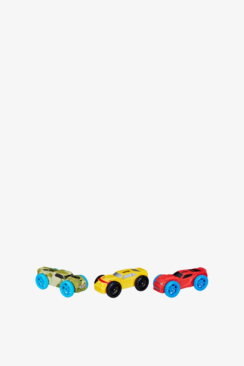 Foam Car 3-Pack, Camo/Dark Yellow/Red