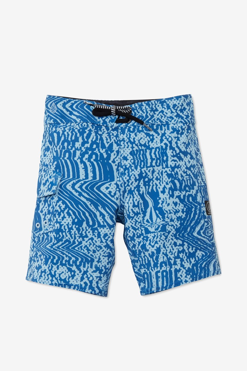 Big Boys Logo Plasm Mod Boardshorts, Blue Combo