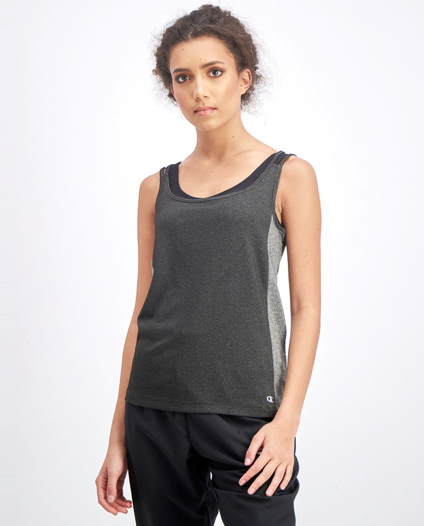 Women's Double Strap Tank, Black