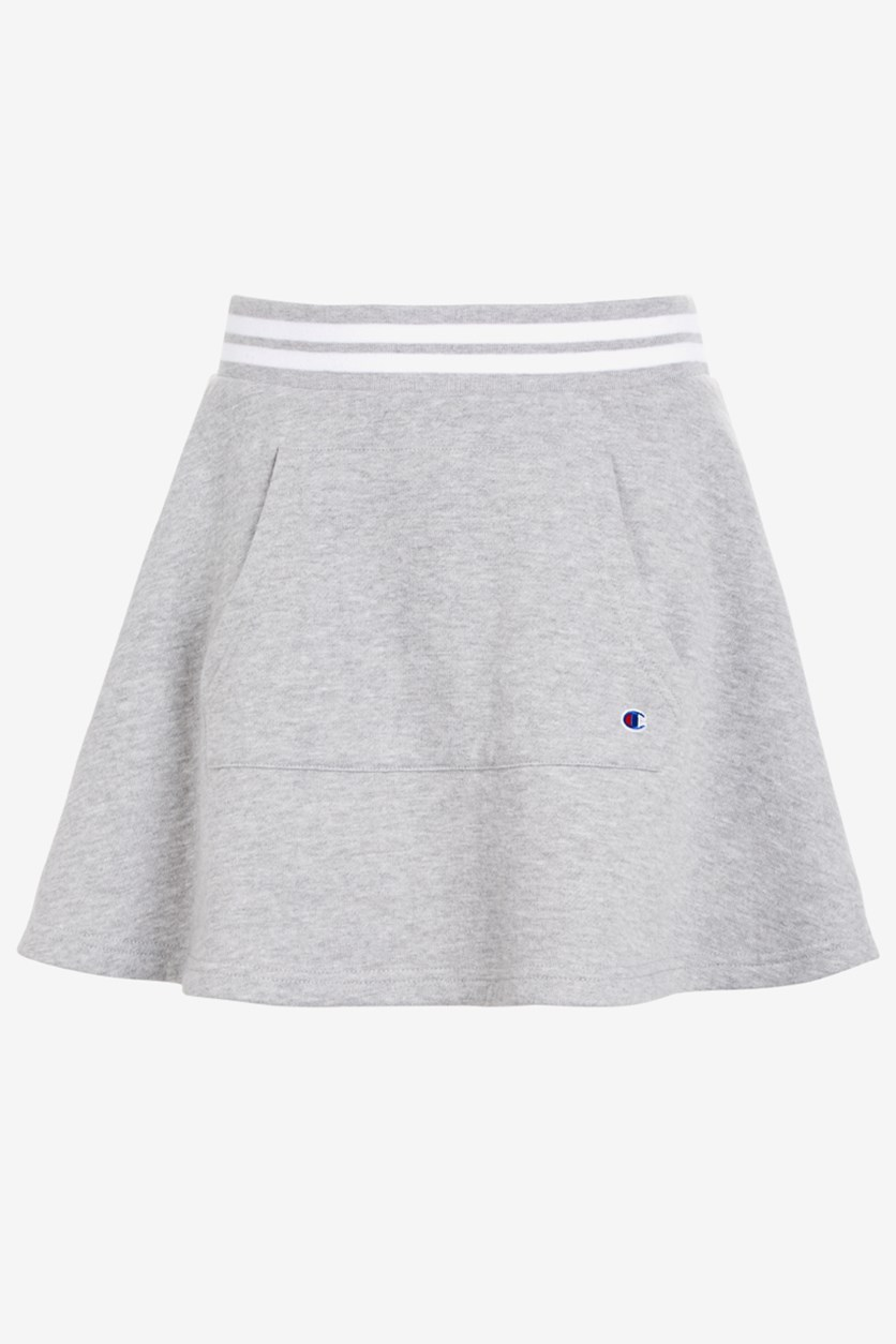 Big Girls Pocket Skirt, Oxford Gray