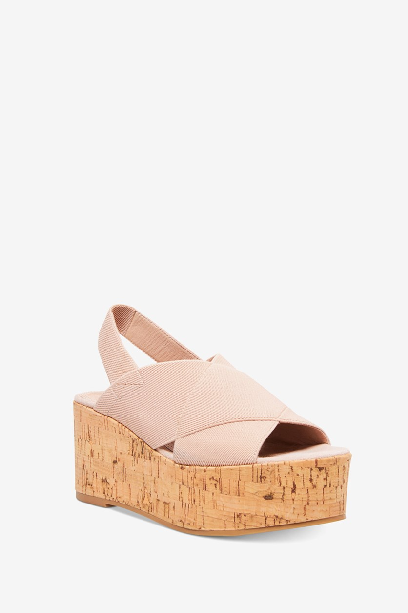 Women's Caly Stretch Wedges Sandals, Nude