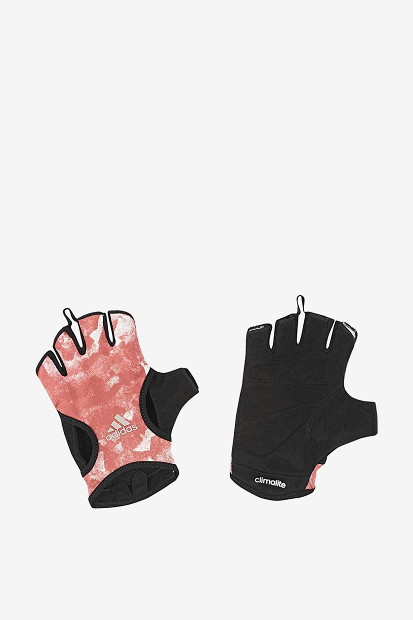 Women's Climate Graphic Gloves, Pink/Black