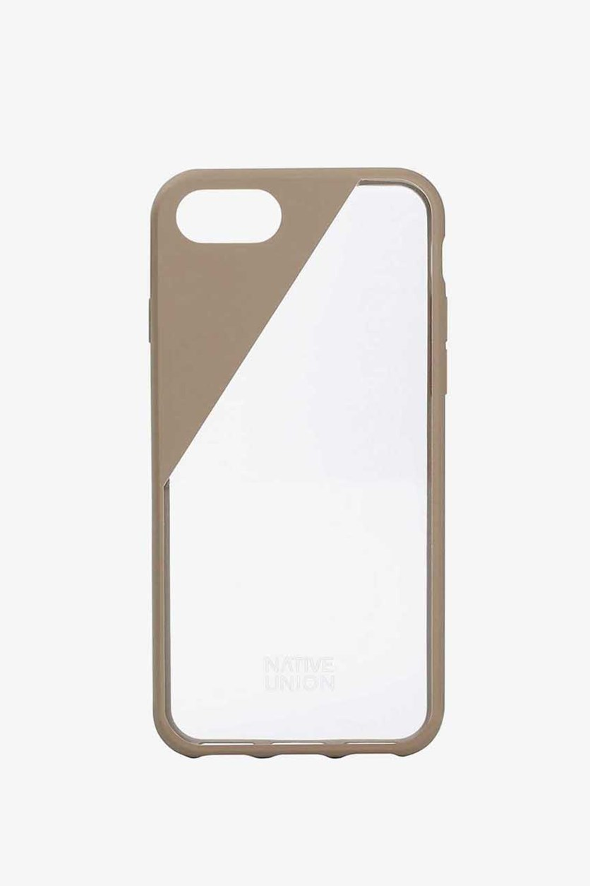 Transparent Clear Cover Case for iPhone 7, Clear/Brown