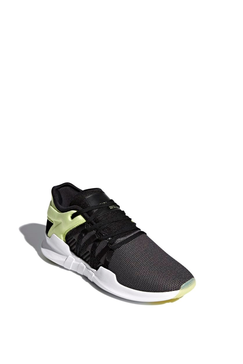 Women's Racing Shoes, Charcoal/Lime/Black