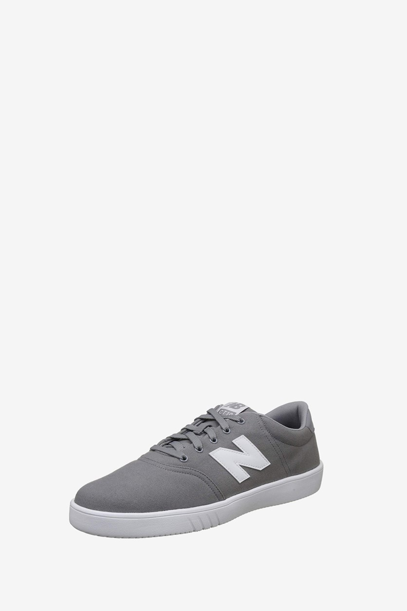 Men's Lace Up Sneakers, Grey/White