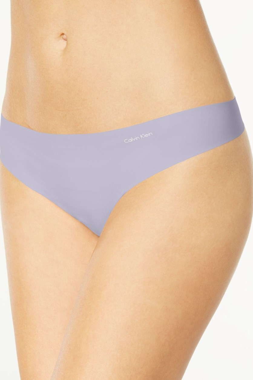 Women's Invisibles Thong, Blue-Gray