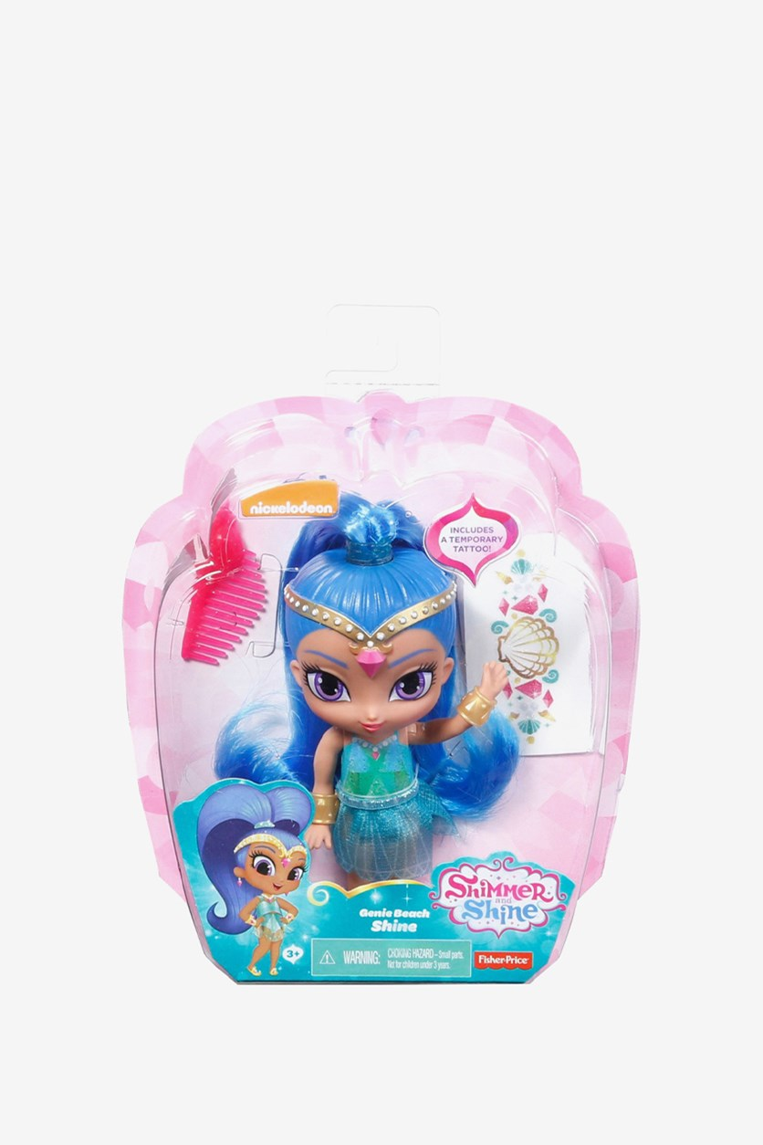 Nickelodeon Shimmer and Shine Jenny Beach Shine Doll, Blue