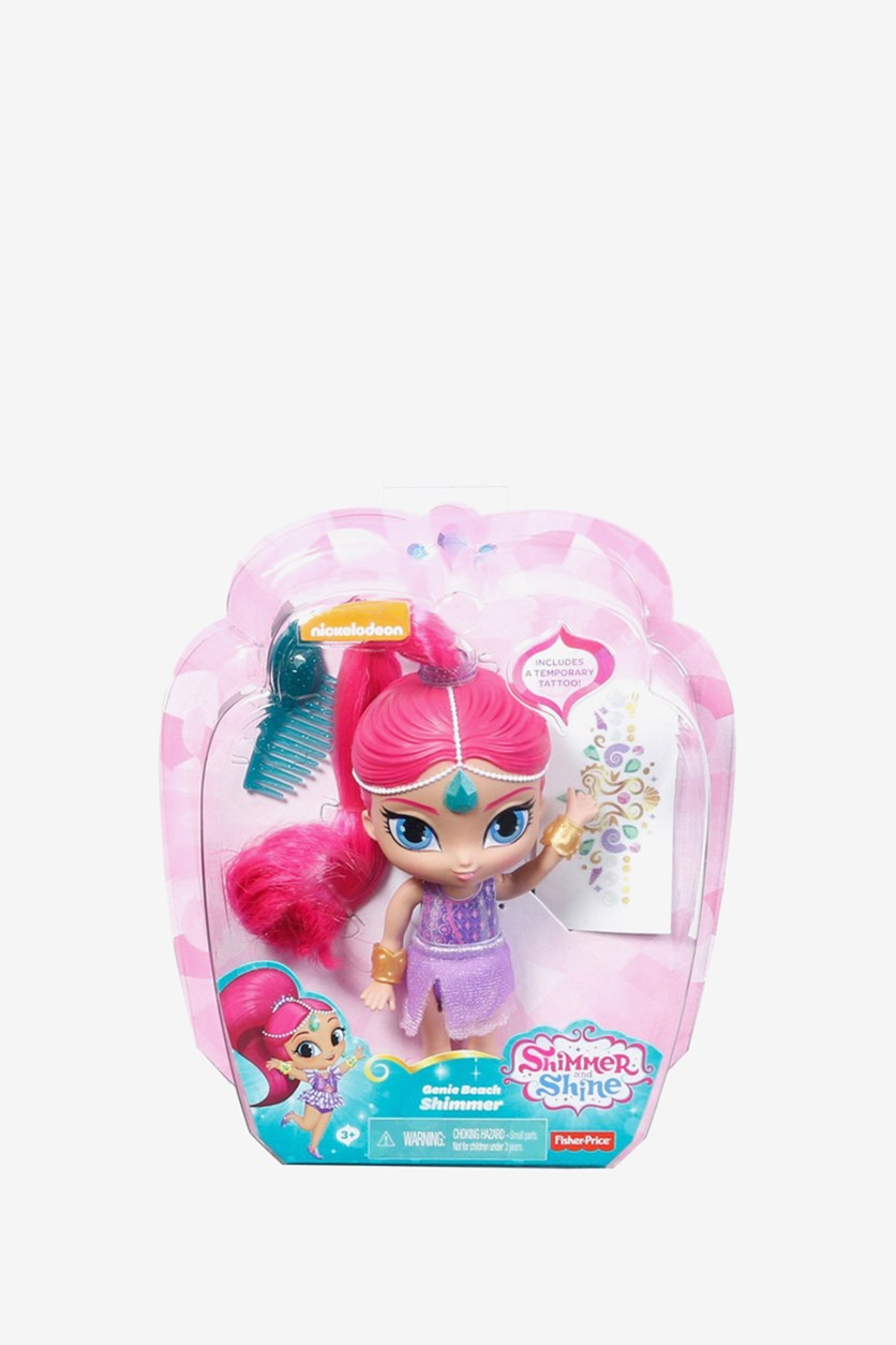 Nickelodeon Shimmer and Shine Genie Beach Shimmer Doll, Pink