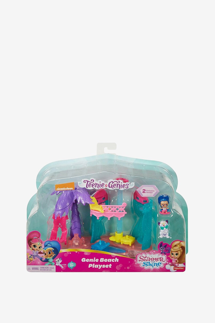 Shimmer And Shine Teenie Genies Genie Beach Playset, Pink Combo