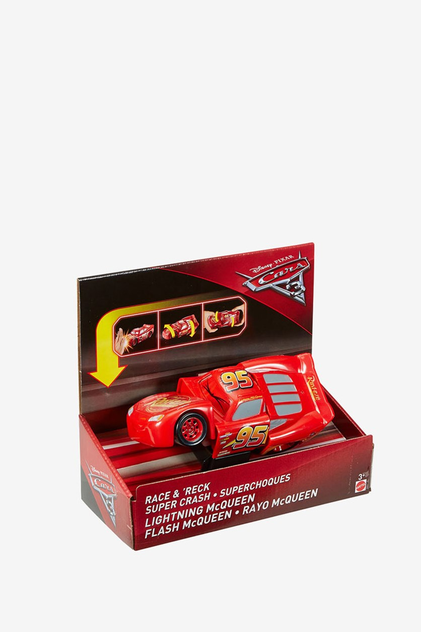 Disney Pixar Cars 3  Race And 'Reck Lightning McQueen Vehicle, Red