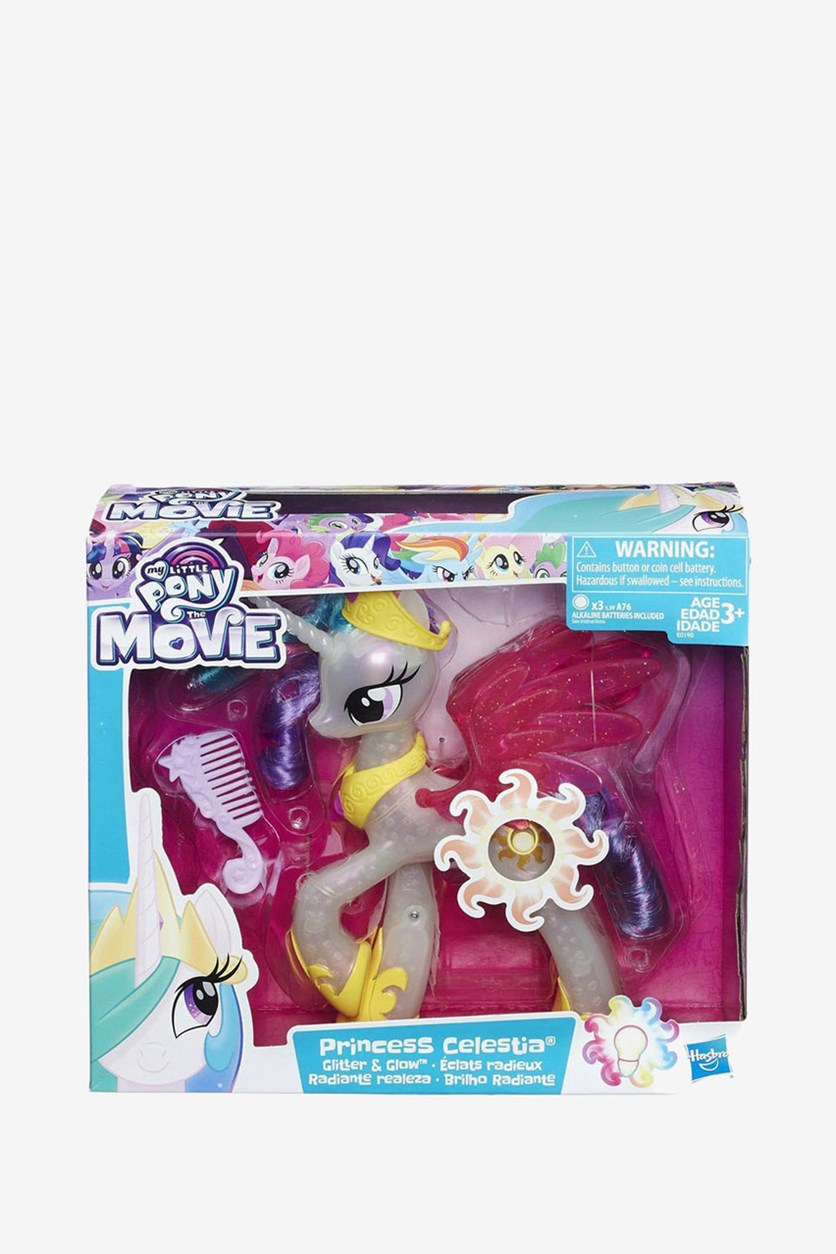 The Movie Glitter and Glow Princess Celestia, Ivory/Yellow/Red