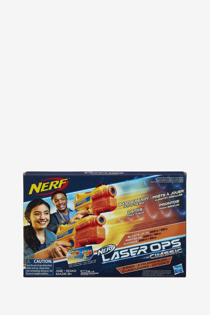 Laser Ops Classic Ion Blaster 2-Pack, Yellow/Orange/Blue