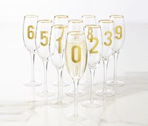 Wine Glass 1.PC, Glass/Gold