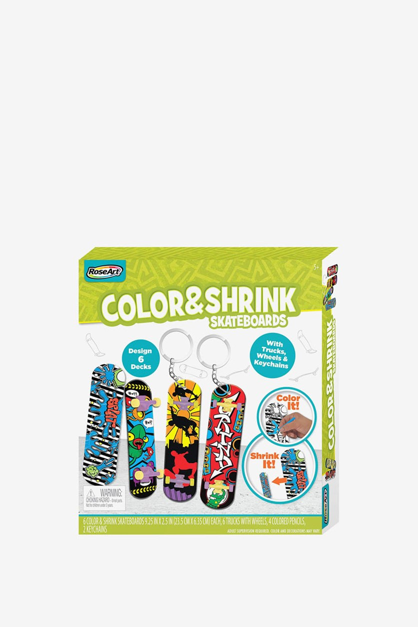 Color & Shrink Skateboards, Lime Gree