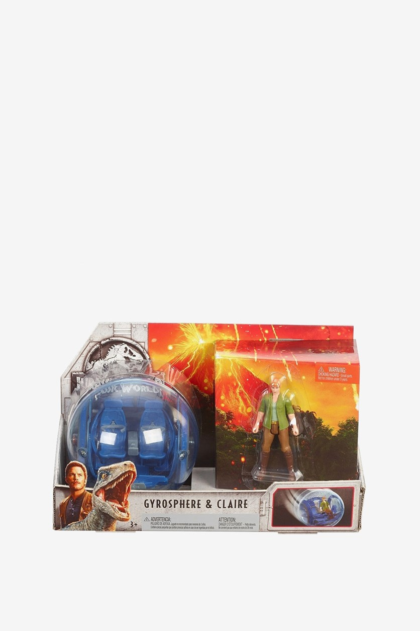 Jurassic World Story Pack Claire & Gyrosphere, Blue/Green