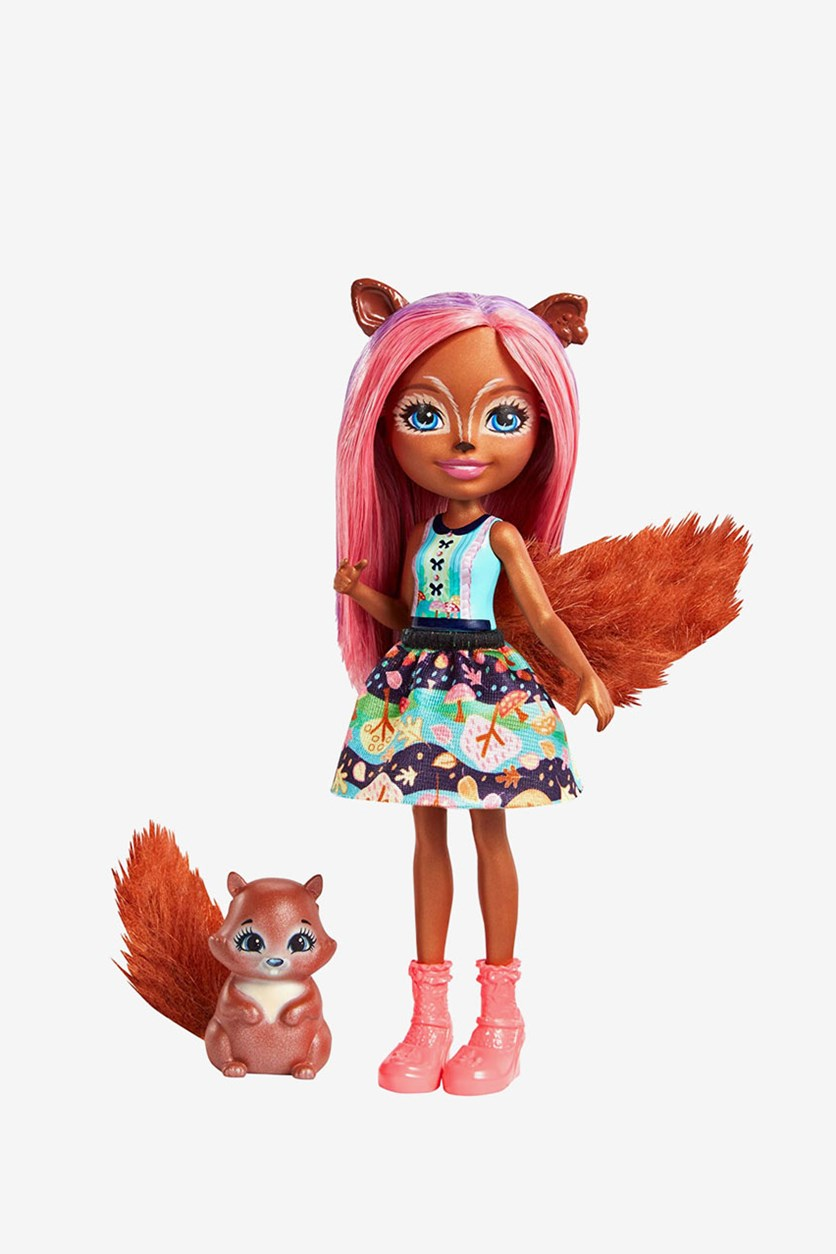 Sancha Squirrel Doll, Brown Combo