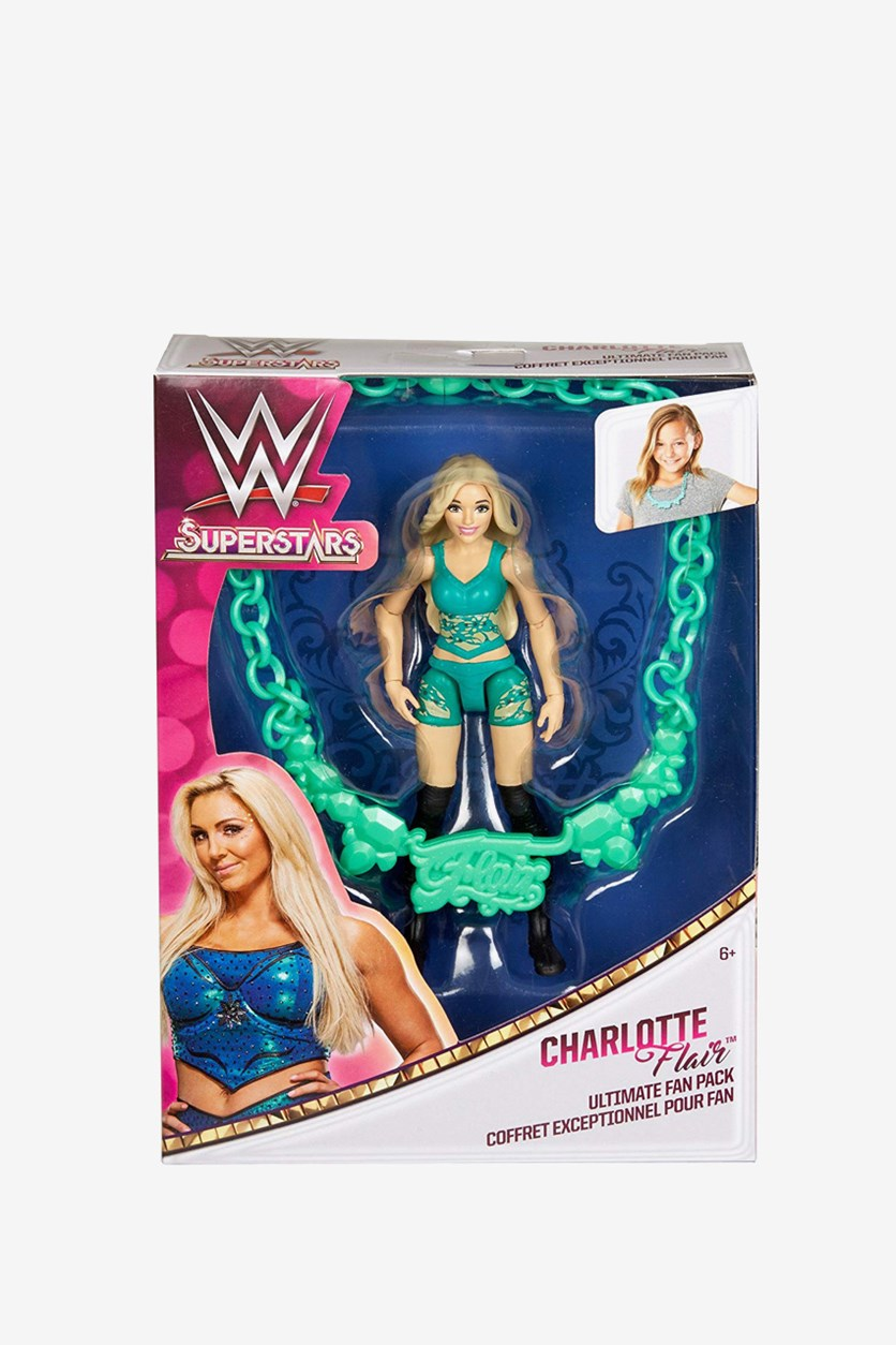 Superstars Charlotte Flair Ultimate Fan Pack Action Figure, Green