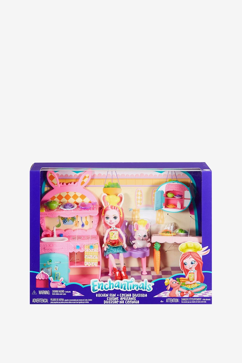 Doll Enchantimals With Kitchen Play Set, Pink Combo