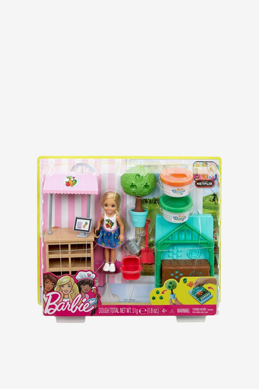 Barbie Chelsea Doll and Veggie Garden Playset, Pink Combo