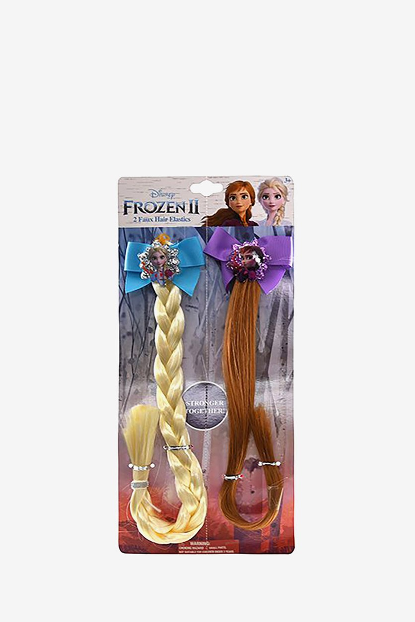 Frozen 2 BFF Anna and Elsa 2 Pack Faux Hair, Gold/Brown