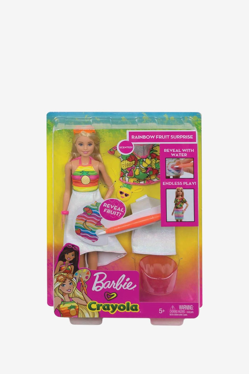 Kids Girls Crayola Rainbow Fruit Surprise Doll & Fashions, Yellow Combo