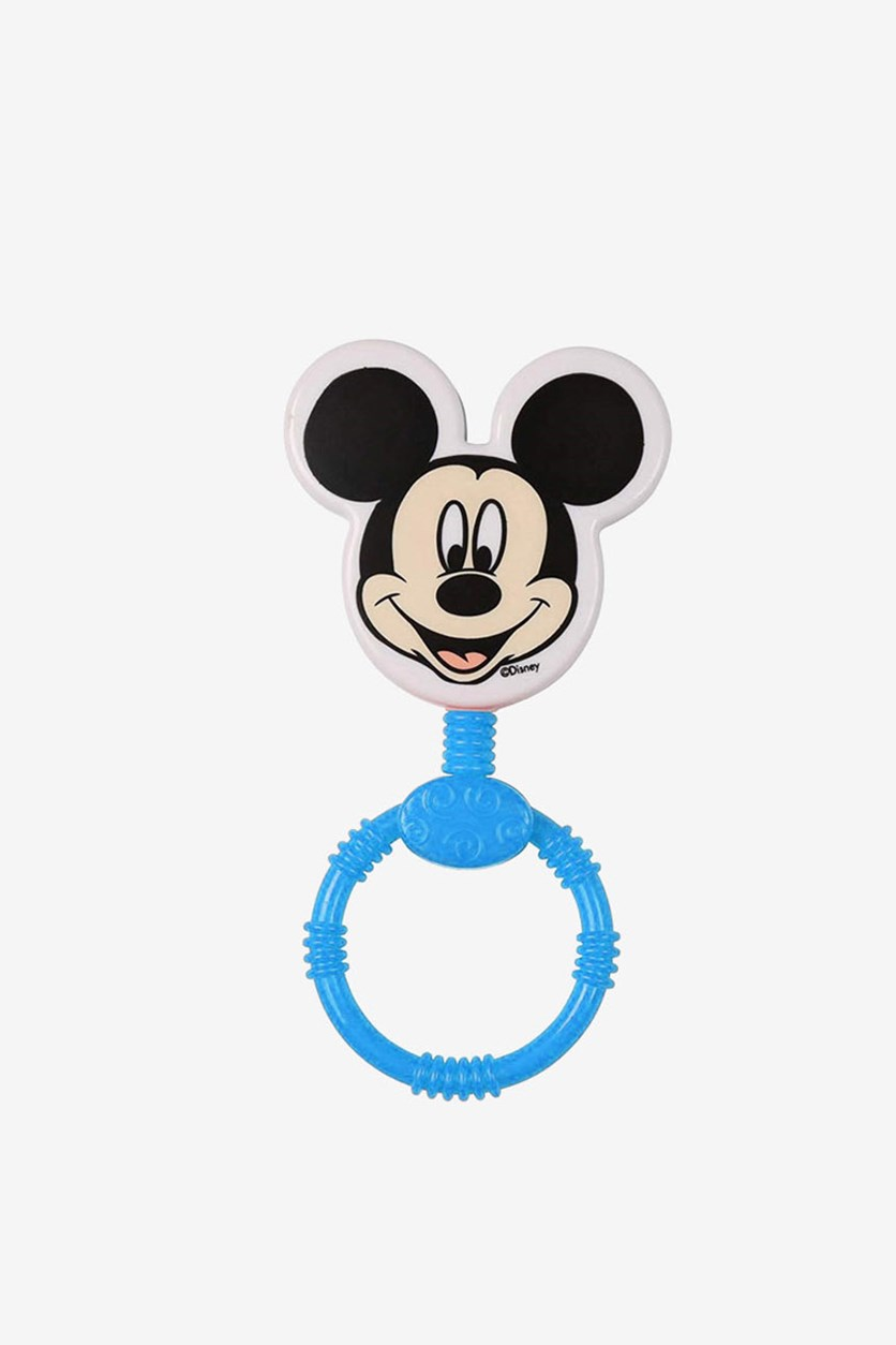 Baby Rattle Mickey Mouse Head, Blue