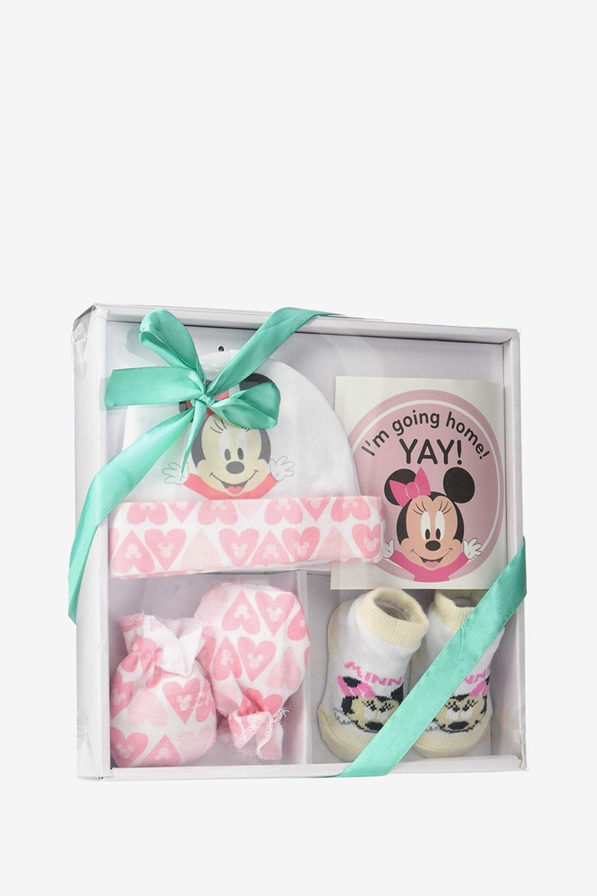 Disney Minnie Mouse Set Of 4 Take Me Home Set, Pink