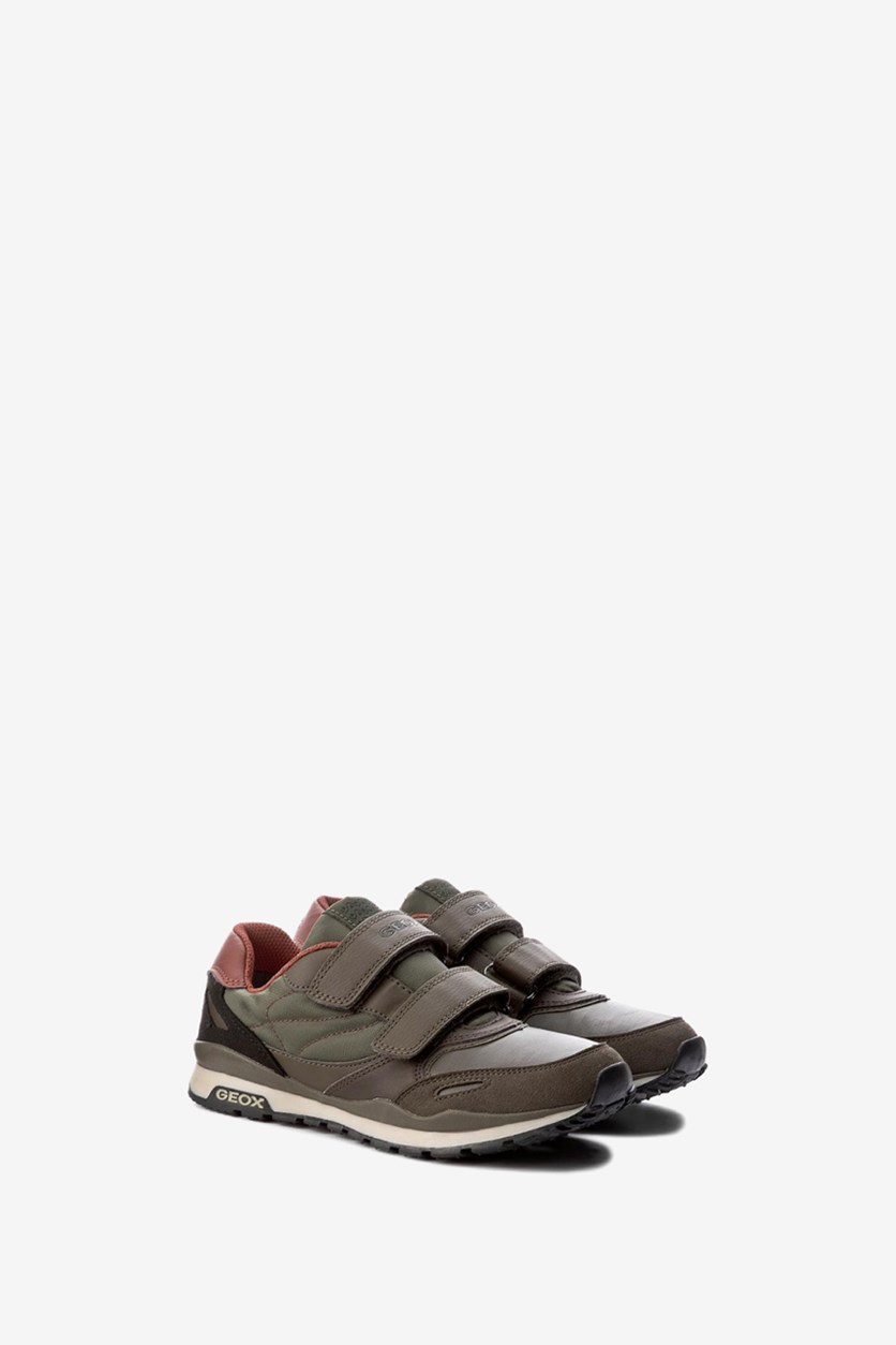 Boys Shoes Pavel Military, Green/Brown