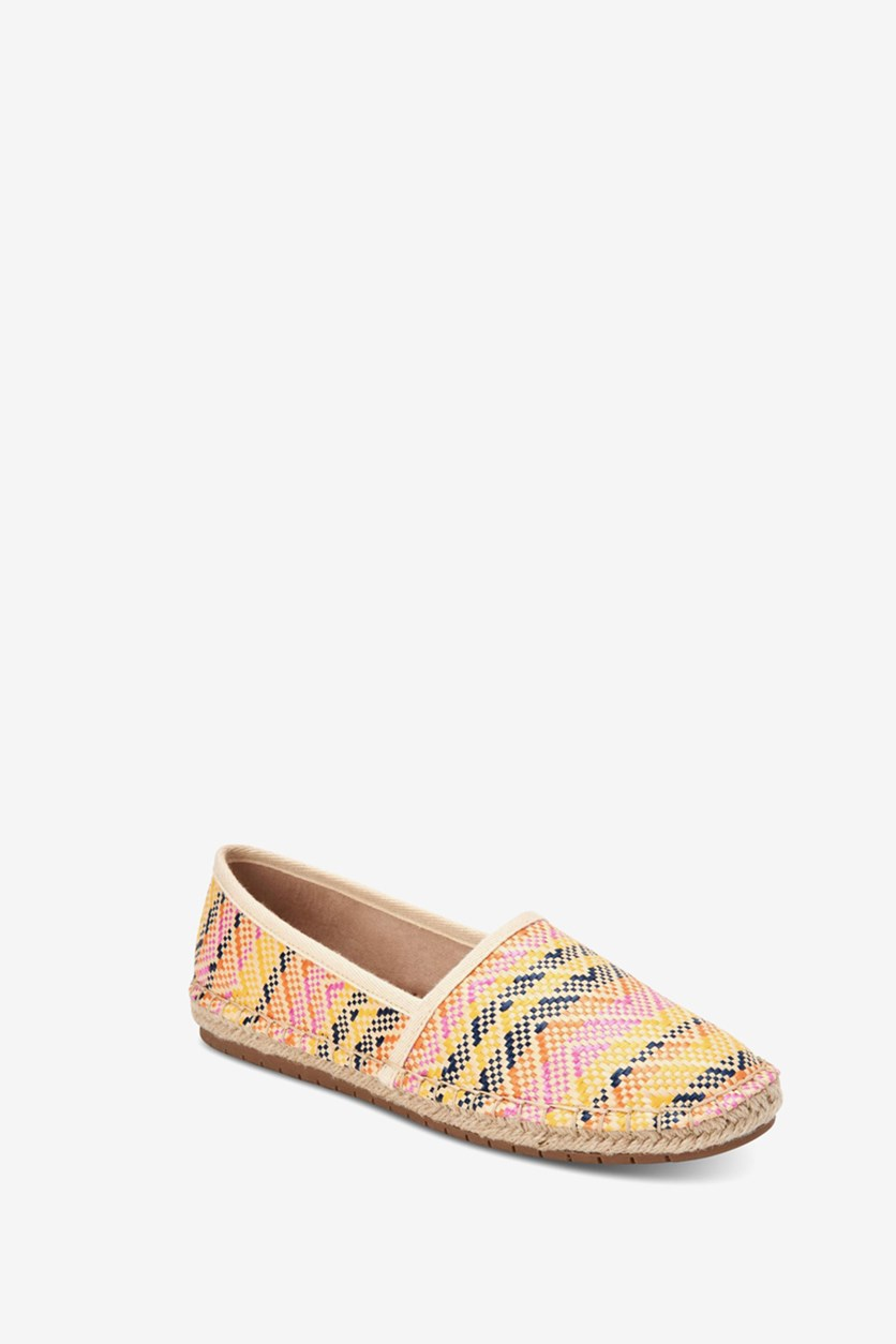 Women's Joeey Espadrille Flats, Yellow/Cream Combo