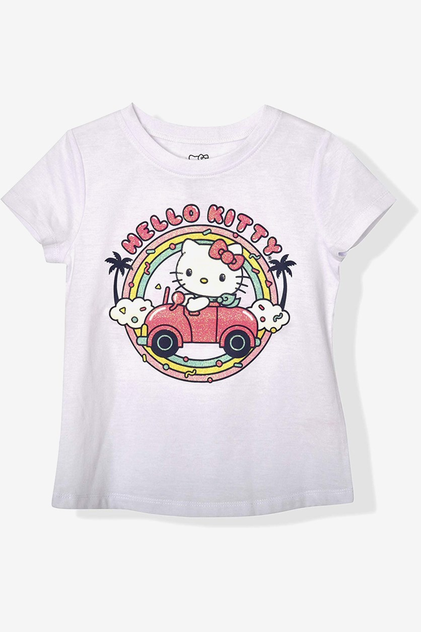 Big Girls Hello Kitty Print Tee, White