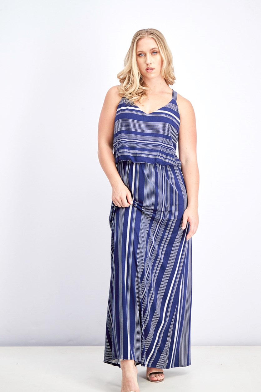 Women's Sleeveless Maxi Dress, Navy