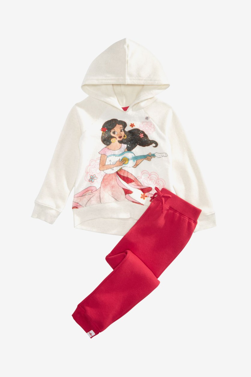 Toddler Girls 2-Pc.Hoodie & Pants Set, White/Red