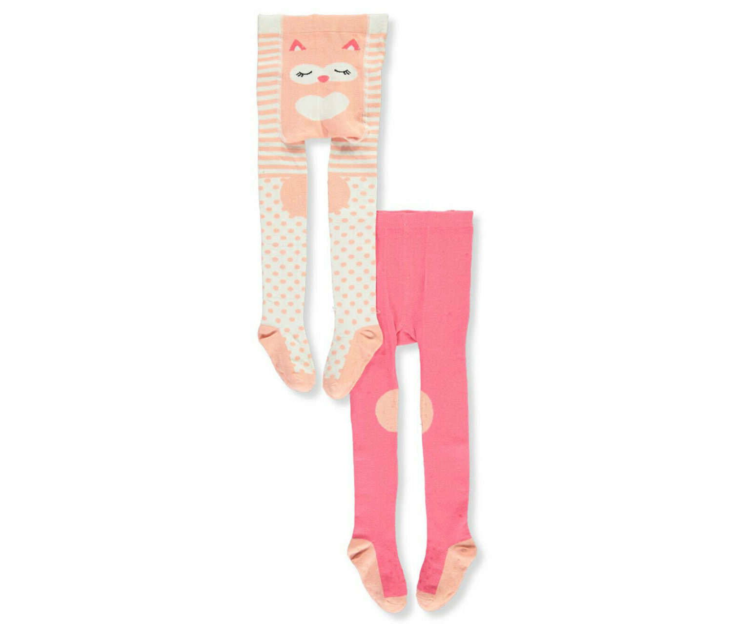 Baby Girl's 2-Pack Non-Skid Crawling Tights, Pink