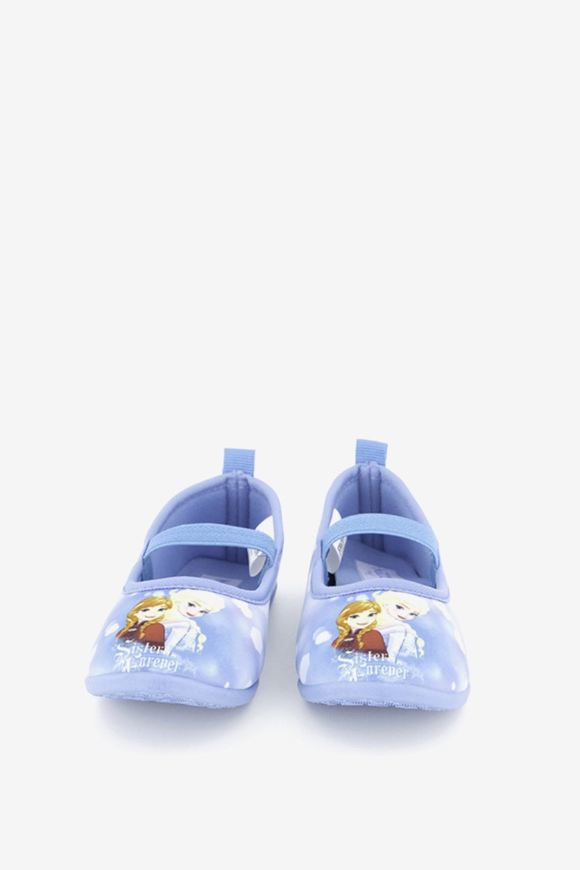 Little Girl's Frozen Shoes, Blue
