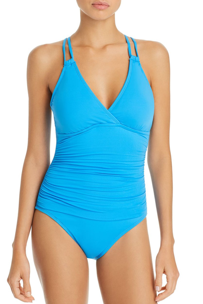 Island Underwire X Back One Piece Swimsuit, Blue